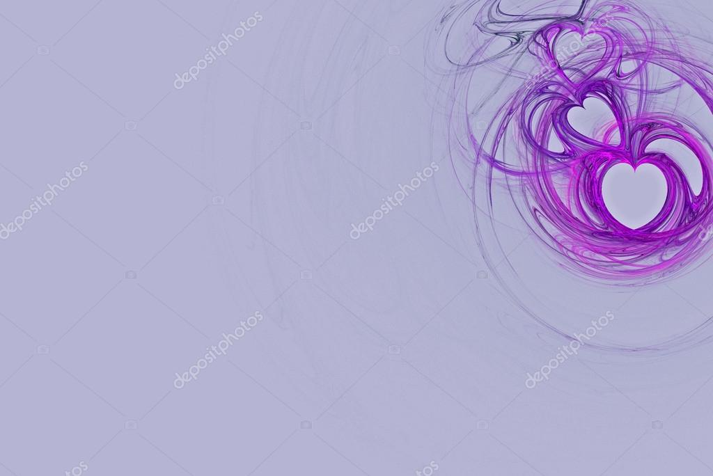 lavender heart design on a pastel pink background with copy space