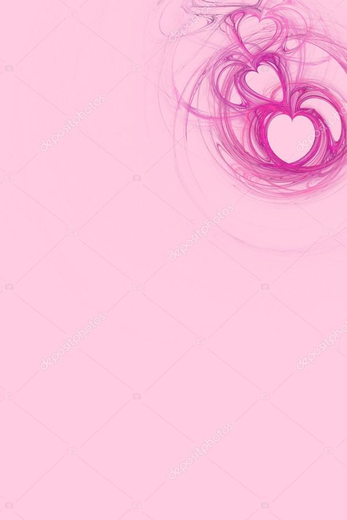 Disegno Caldo Cuore Rosa Su Sfondo Rosa Pastello Con Lo Spazio Della