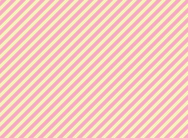 Vector diagonal swatch striped fabric wallpaper in pink, gold and ecru that matches Valentine borders.