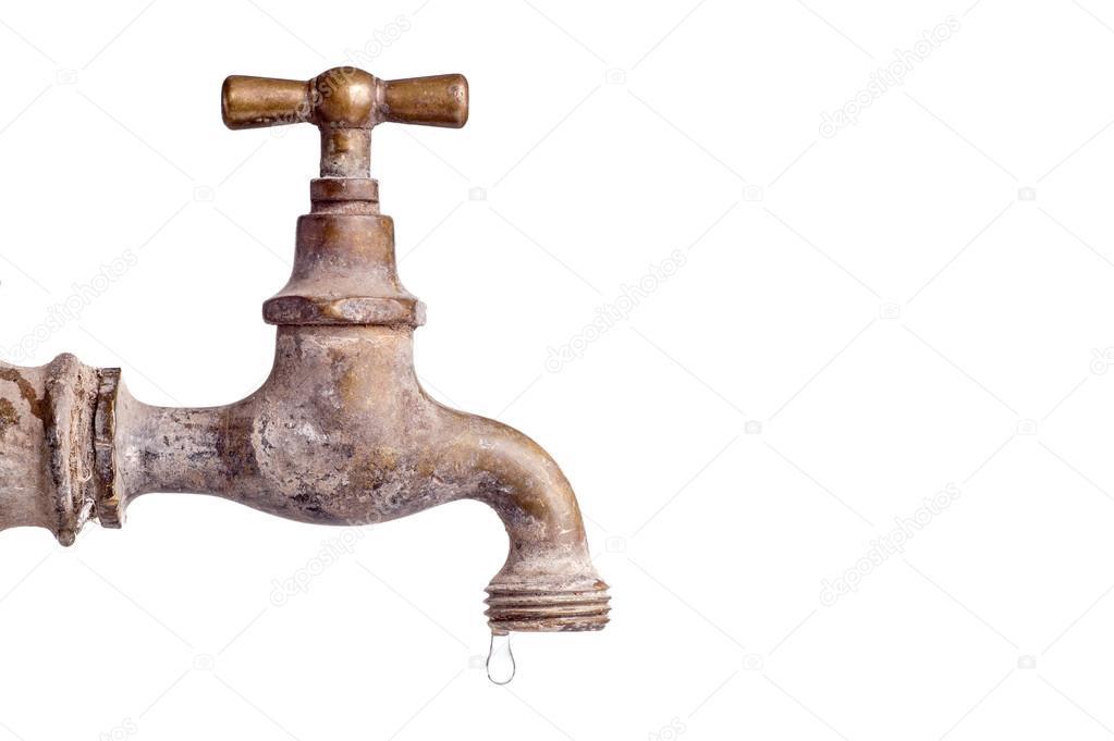 Viejo y usado llave vintage con gota de agua fotos de for Imagenes de llaves de agua