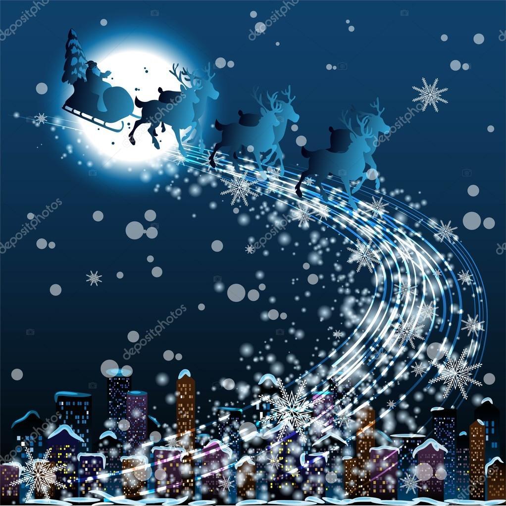 Notte Magica Immagini.Illustrazione Di Notte Magica Cartolina Di Natale Notte