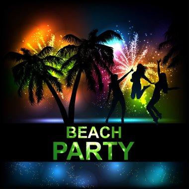 Summer Beach Party Vector Flyer.