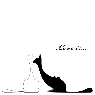 Cats fallen in love