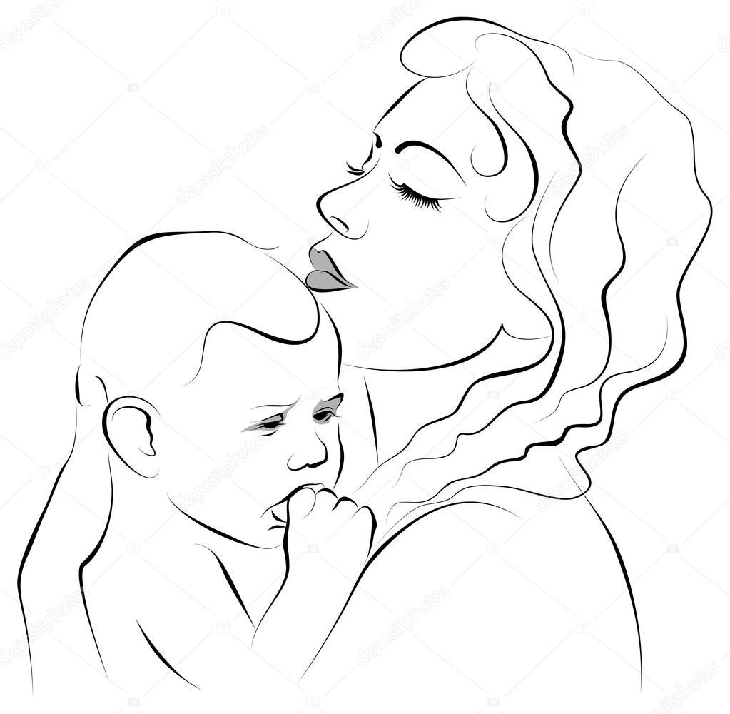 Красиво, картинки на день матери рисовать карандашом