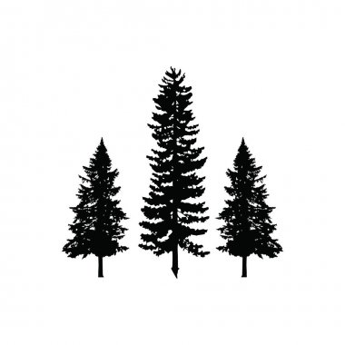 Tree pine logo silhouette icon