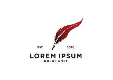 Colorful feather logo symbol illustration design icon