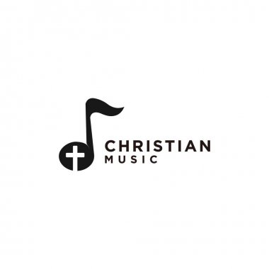 Cristian symbols. The Cross of Jesus in a musical note
