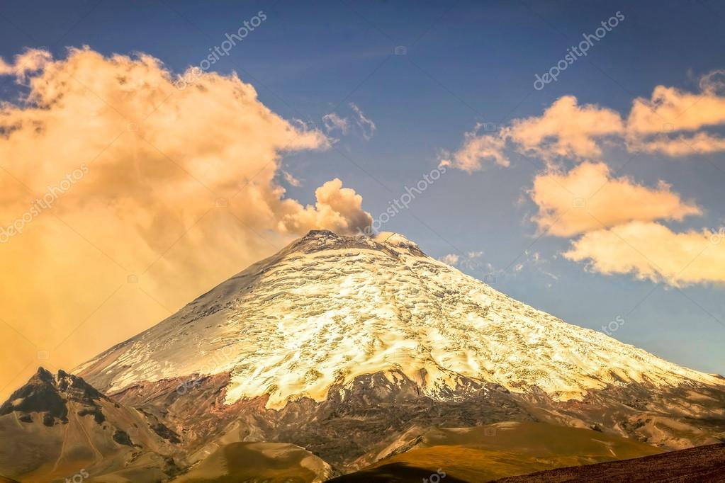 Eruption Of Ash Clouds From Cotopaxi Volcano