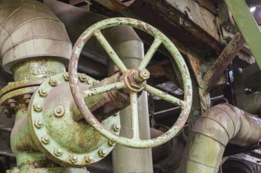 Industrial valve in an abandoned factory