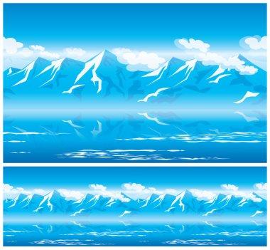 """Картина, постер, плакат, фотообои """"горы на солнце"""", артикул 65005671"""