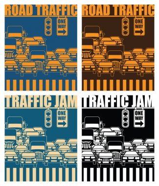 road traffic and traffic jam