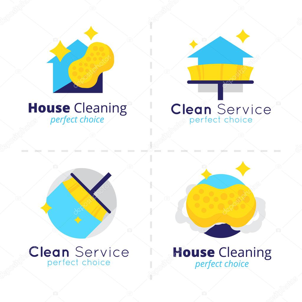 vector casa limpia colección de logo limpieza casa vector