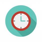 Vector flat modern round watch icon