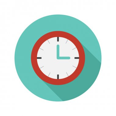 Vector simple flat modern round watch icon stock vector
