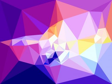 Vector low poly background. Abstract diamond background in violet colors