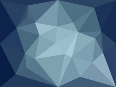 Vector low poly background. Dark blue polygonal abstract background