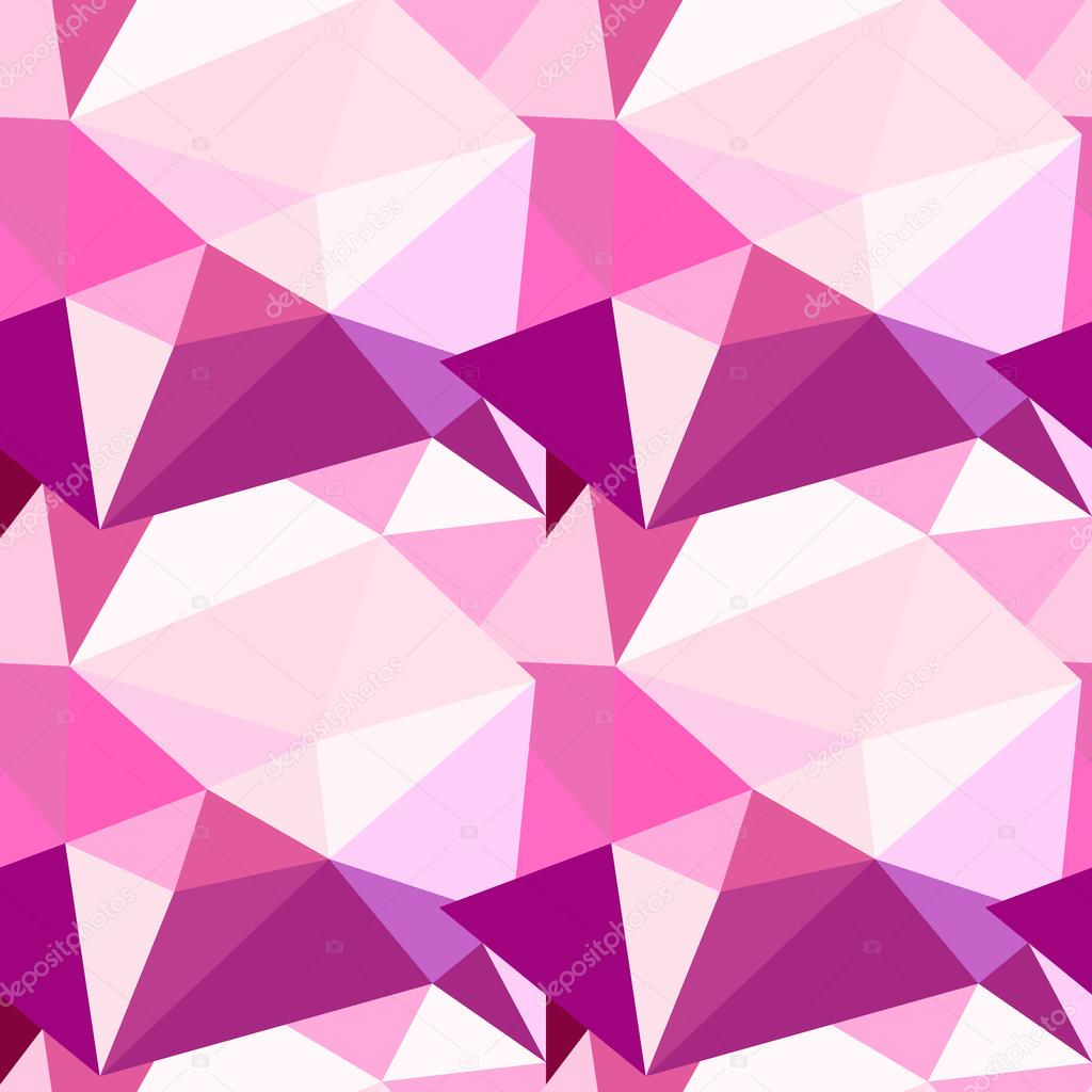 Vector low poly seamless pattern  Abstract diamond background in