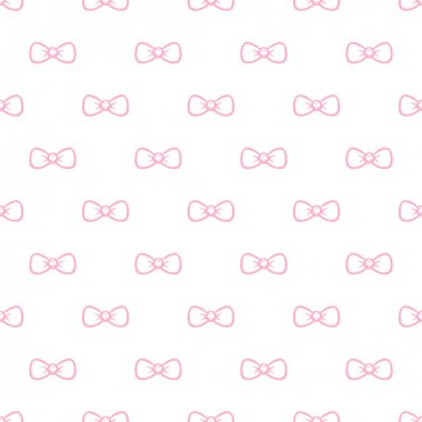Vector cute minimalistic bow tie seamless pattern. Simple background