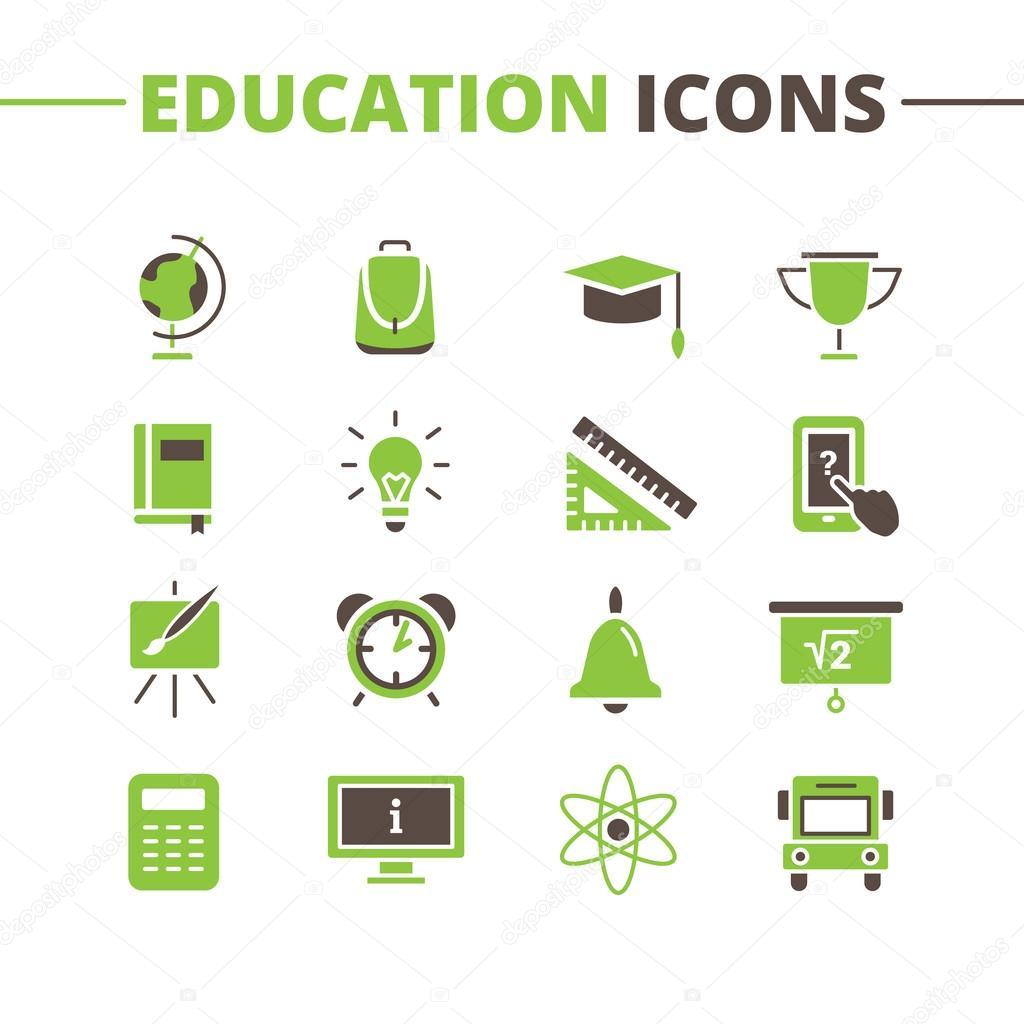 Vector trendy school icons set minimalistic flat style symbols vector trendy school icons set minimalistic flat style symbols collection stock vector buycottarizona Image collections