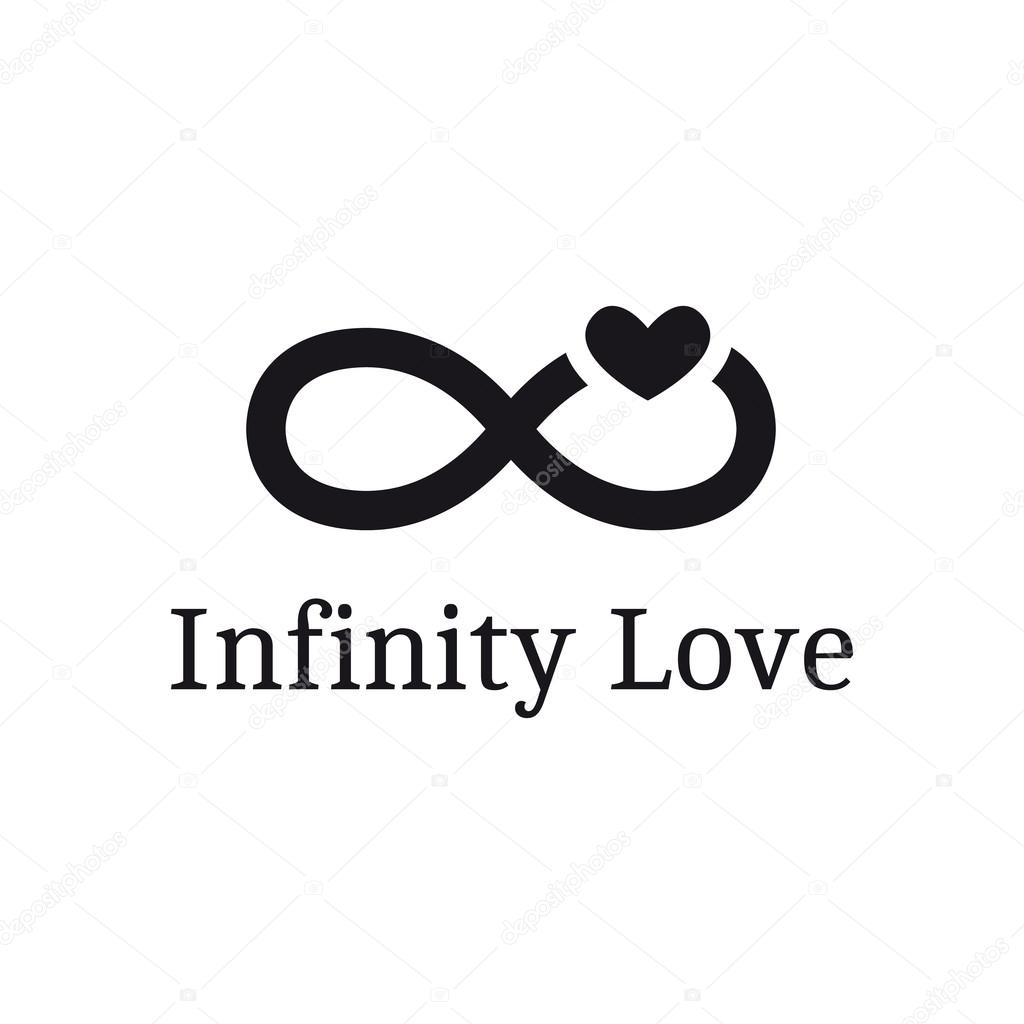 Infinity sign stock vectors royalty free infinity sign vector trendy infinity sign with heart logotype modern romantic logo vector graphics biocorpaavc Choice Image