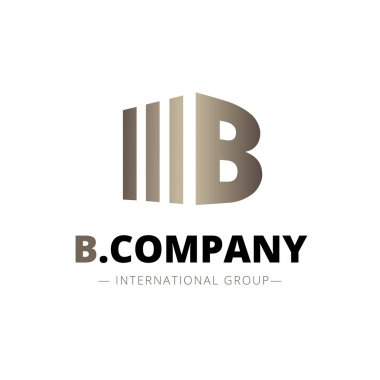 Vector trendy isometric B letter logo