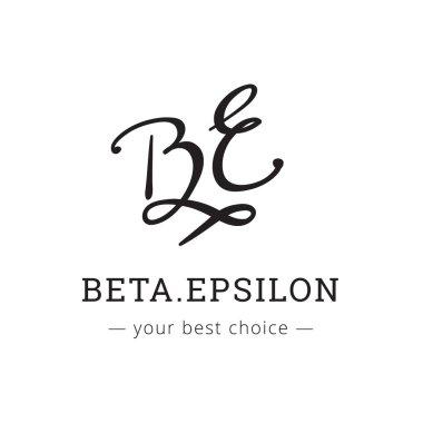 Vector hand drawn style elegant letter logo