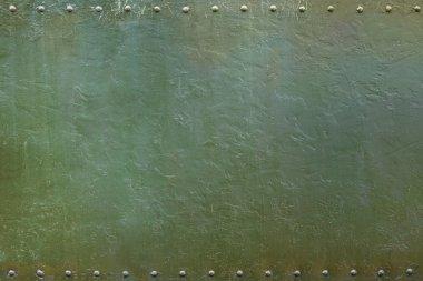 military riveted metal plate 1