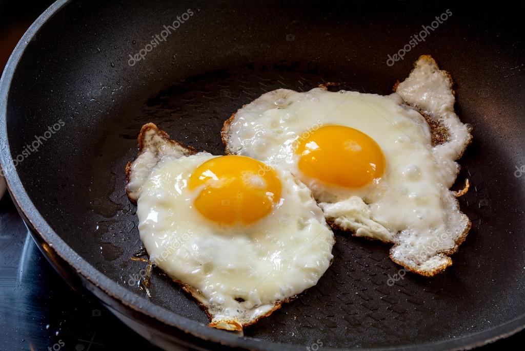 Жареные яйца на белковой диете