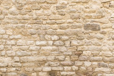 background texture, wall of pale natural stone