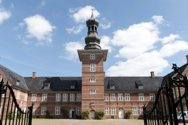 castle of Husum against the blue sky, Schleswig Holstein, North