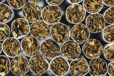 Cigarette stack as a background texture