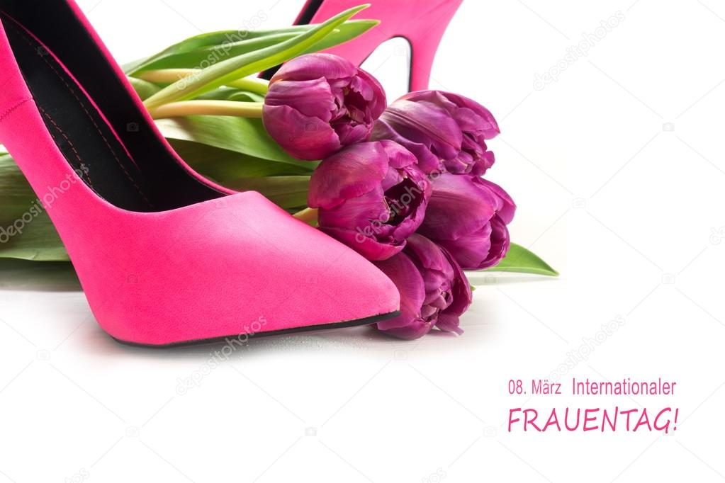 eb74c770958 International Women's Day 8 March, german text Frauentag, pink ...