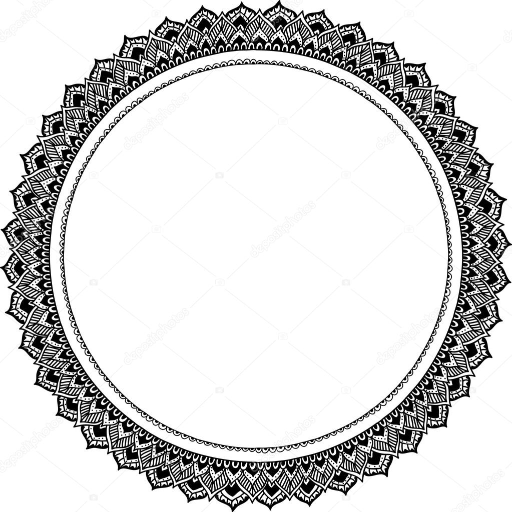 Ornament frames in round shape, design element — Stock Vector ...