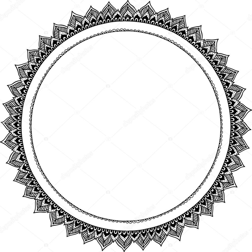 Marcos de ornamento en forma de redonda, elemento de diseño ...