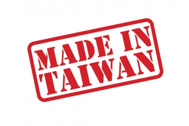 MADE IN TAIWAN Rubber Stamp vector over a white background.