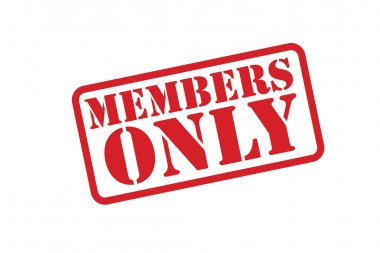 MEMBERS ONLY Rubber Stamp vector over a white background.