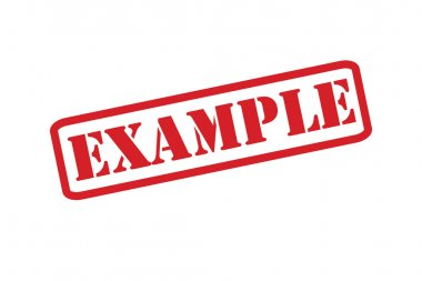 EXAMPLE Rubber Stamp vector over a white background.