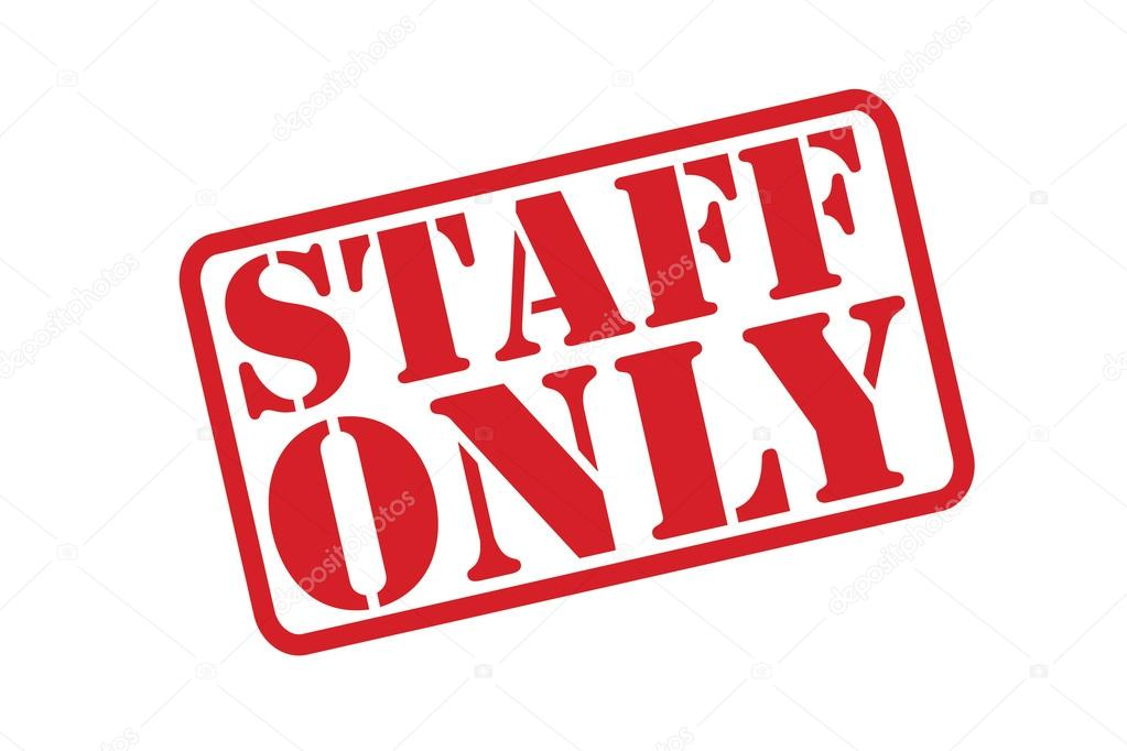 STAFF ONLY Rubber Stamp vector over a white background.
