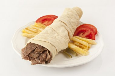Delicious turkish doner kebab grilled meat