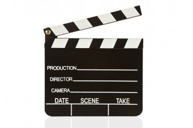 Clapper board isolated with white background