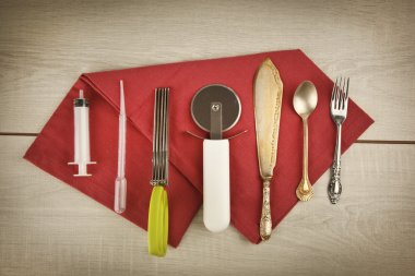 Kitchen Tools for food styling prepare cooking equipments