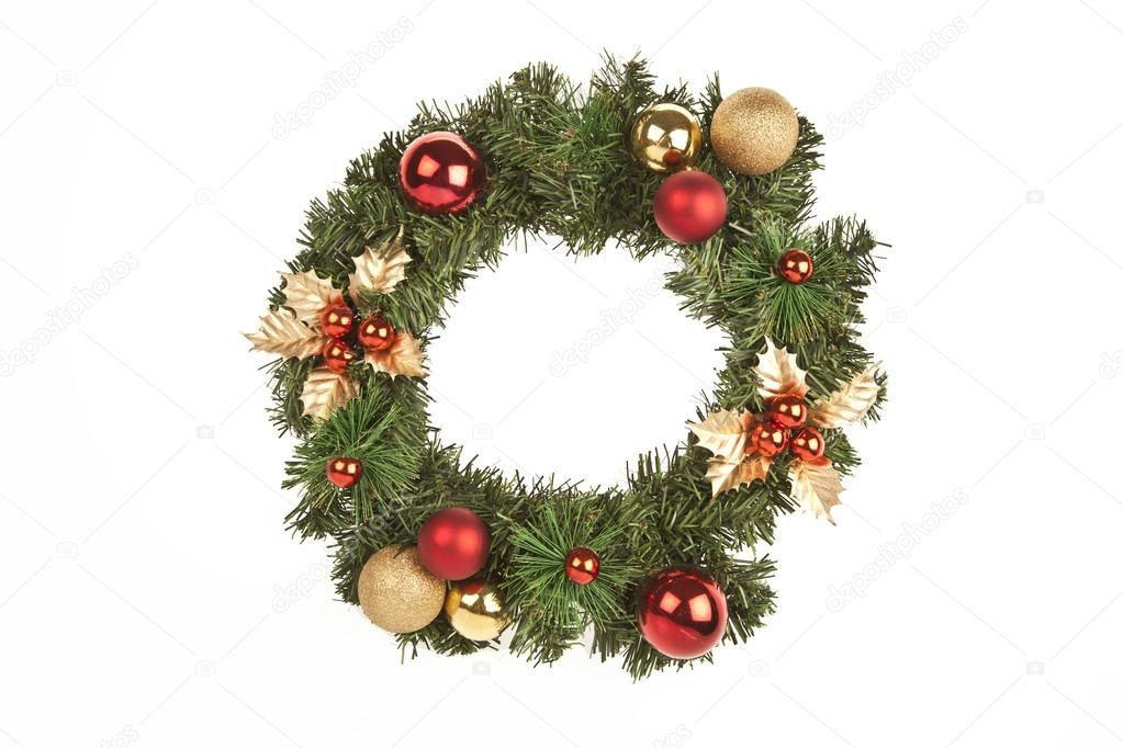What Kind Of Christmas Decorations Are Used In Spain : Christmas circle tree decorations stock photo