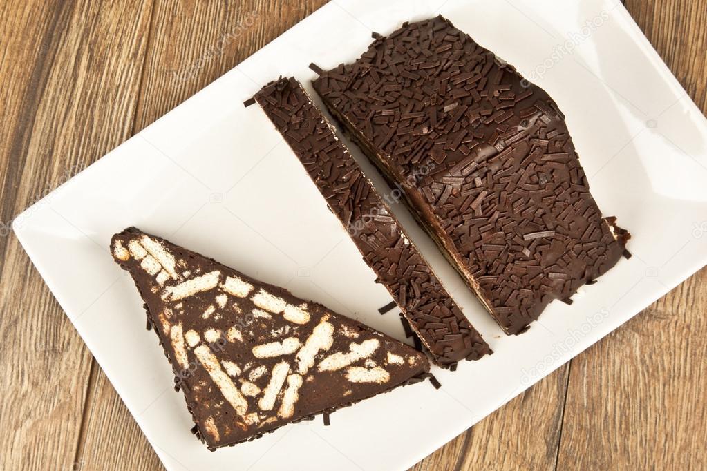 Mosaic chocolate cake