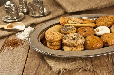 Turkish homemade sweet and savory cookies - tatli tuzlu kurabiye
