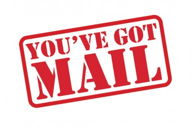 YOU HAVE GOT MAIL red Rubber Stamp vector over a white background.