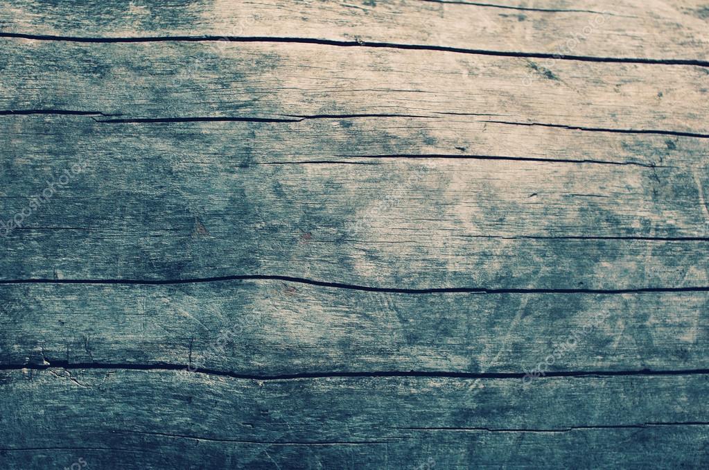 Wooden Desk Top View