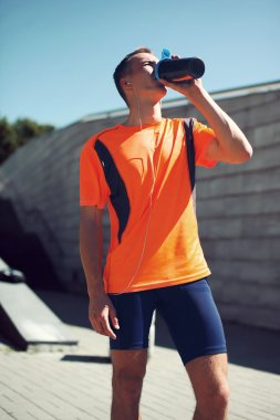Sport, sports nutrition and healthy lifestyle concept - fitness