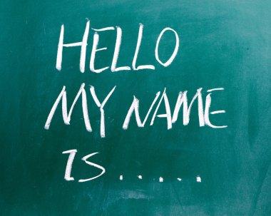 Hello my name is on blackboard