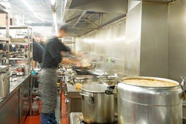 Chefs of restaurant kitchen