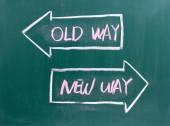 Stará cesta, nový způsob, jak napsal na tabuli